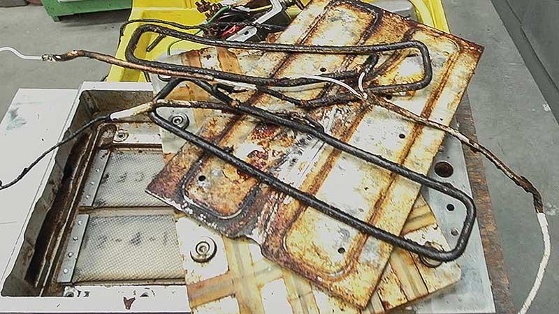Multivac heat plate repair
